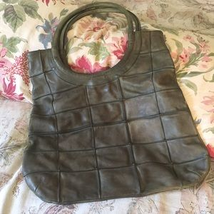 ANTHROPOLOGIE leather HOBO Round handle $199 NEW